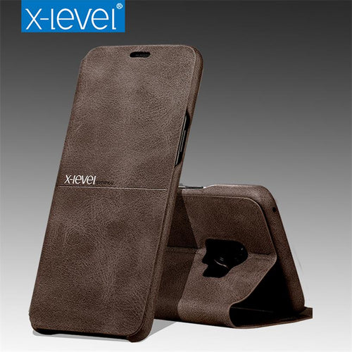 X-Level Leather Flip Cover Case - Samsung Galaxy S9/S9 Plus
