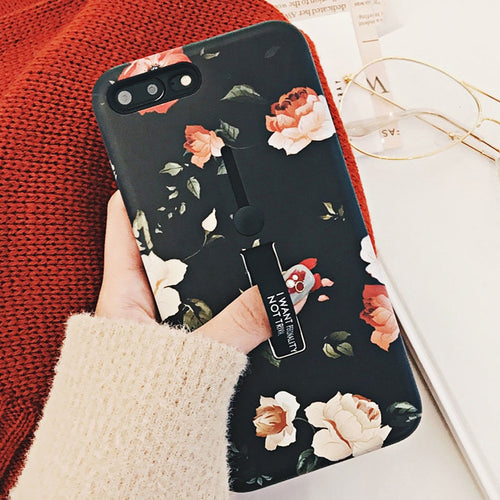 Floral Case with Built-In Loop - iPhone