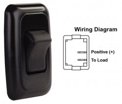 Switch Assembly Single On/off Rocker Switch With Bezel, Black 3612225 *