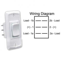 Switch Hd Momentary-on/off/momentary-on White 12v 1/pkg 3612835 *