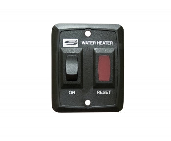 RV Replacement Water Heater Switch w/ Light Assembly - Black 3923229