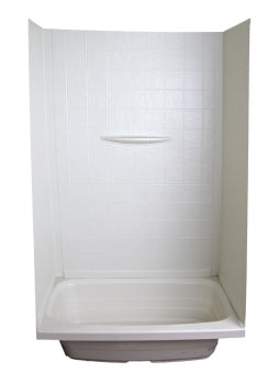 RV Bath Surround Walls - Parchment - 24