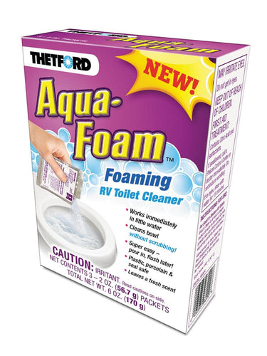 Aqua-Foam Foaming RV Toilet Bowl Cleaner 3- 2OZ PACKS 1696009