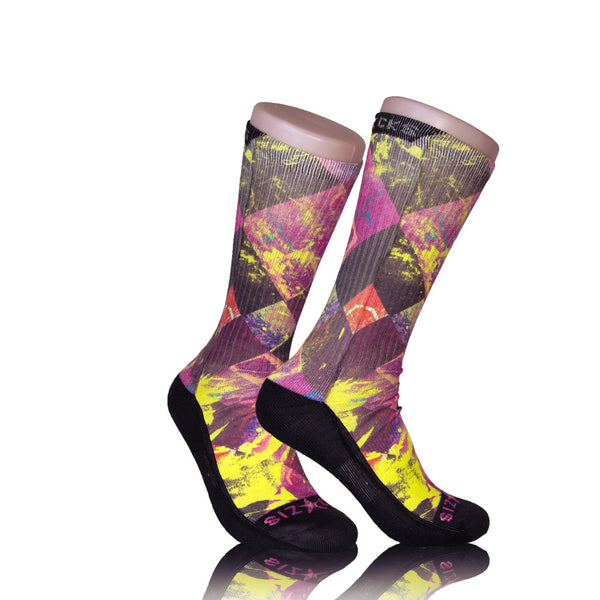 Argyle Splash Socks