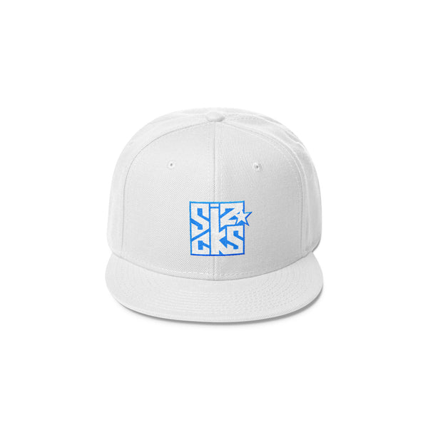 Skater Sizocks Snapback Cap Blue on White
