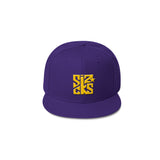 Skater Sizocks Snapback Cap Yellow on Purple