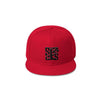 Skater Sizocks Snapback Cap Black on Red