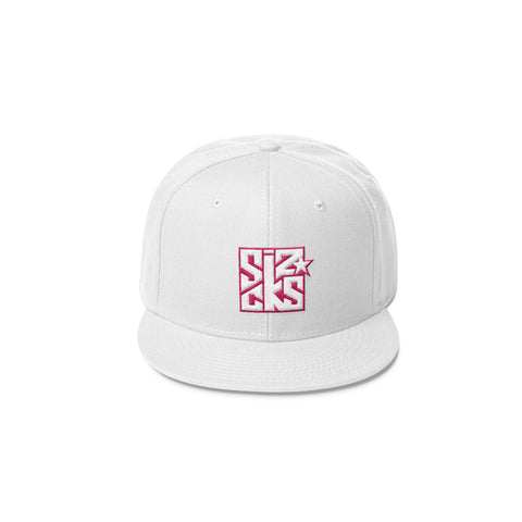 Skater Sizocks Snapback Cap Pink on White