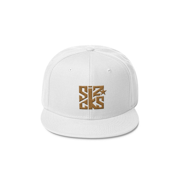 Skater Sizocks Snapback Cap Gold on White