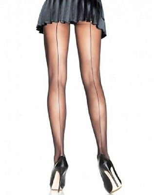 0481b8329 SEAMED STILETTO HEEL STOCKINGS. ( SHEER) BLACK   NATURAL ONE SIZE - Hosiery  TINA