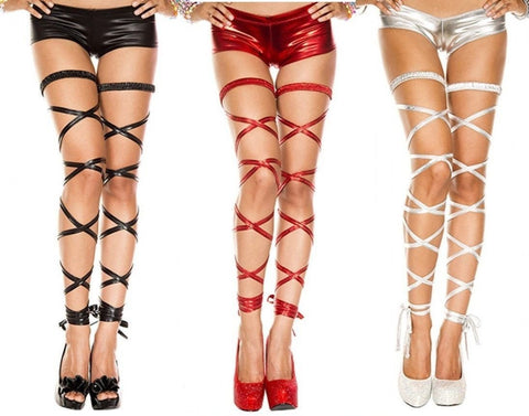 3b4e44f62 Music Legs Metallic Leg Wrap Available in Red