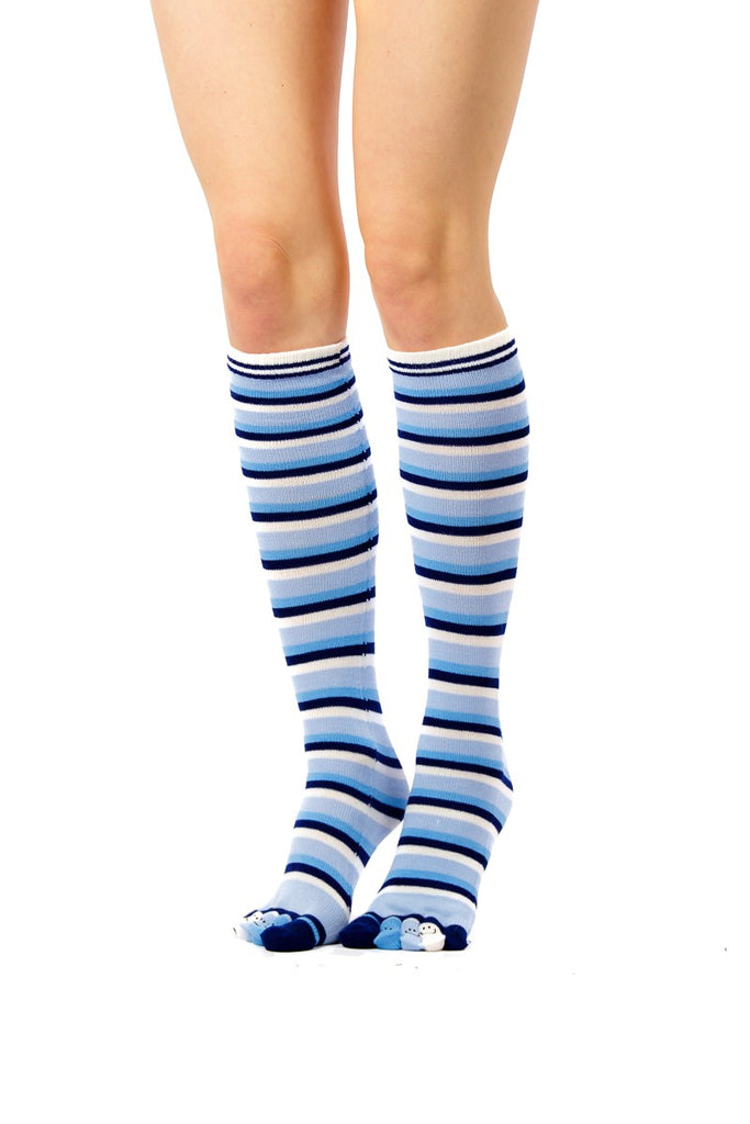 5fc3850099c designer inspired blue shades and white knee high toe socks - Socks TINA  JAYNE BOUTIQUE