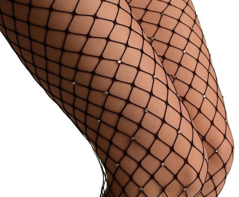 e6ef3b1ae Large Hole Fishnet Diamante Embellished Tights - Ladies Tights TINA JAYNE  BOUTIQUE