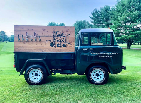 This mobile bar can serve any beverage.