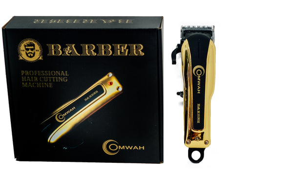 Men's Professional High Performance Barber Hair Clipper Haircut Kit with 5 Magnetic Combs