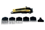 Professional High Performance Cordless Barber Hair Clipper Haircut Kit with 5 Magnetic Combs