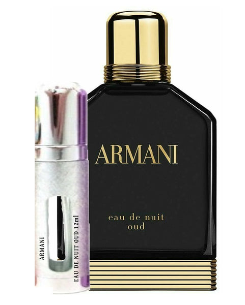 ARMANI EAU DE NUIT OUD samples 12ml