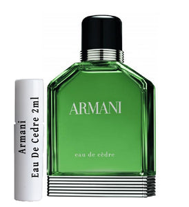 Armani Eau De Cedre samples 2ml
