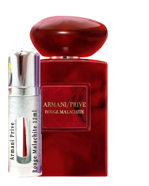 Armani Prive Rouge Malachite samples 12ml