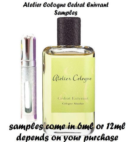 Atelier Cologne Cedrat Enivrant samples