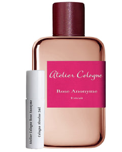 Atelier Cologne Rose Anonyme  Cologne Absolue samples 2ml