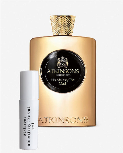 Atkinsons His Majesty The Oud sample vial spray 1ml