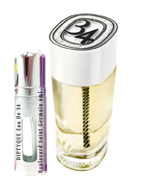 DIPTYQUE Eau De 34 Boulevard Saint Germain samples 6ml