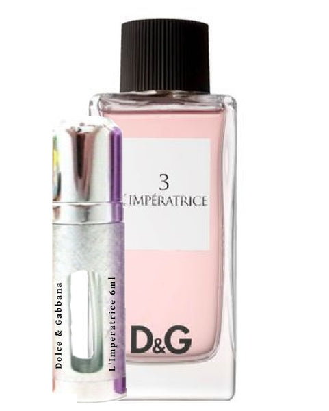 Dolce and Gabbana 3 l'imperatrice samples 6ml