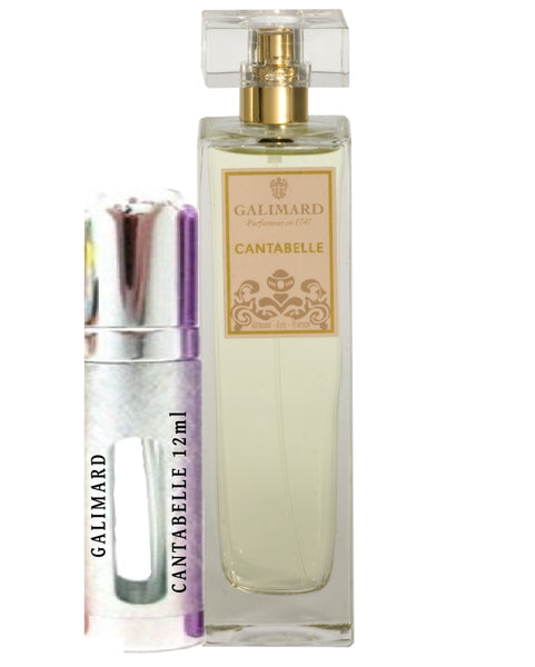 GALIMARD CANTABELLE Eau De Parfum Samples 12ml