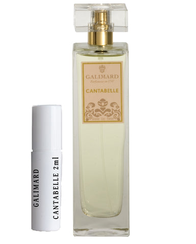 GALIMARD CANTABELLE Eau De Parfum Samples 2ml
