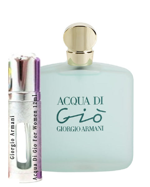 Giorgio Armani Acqua Di Gio For Women samples 12ml