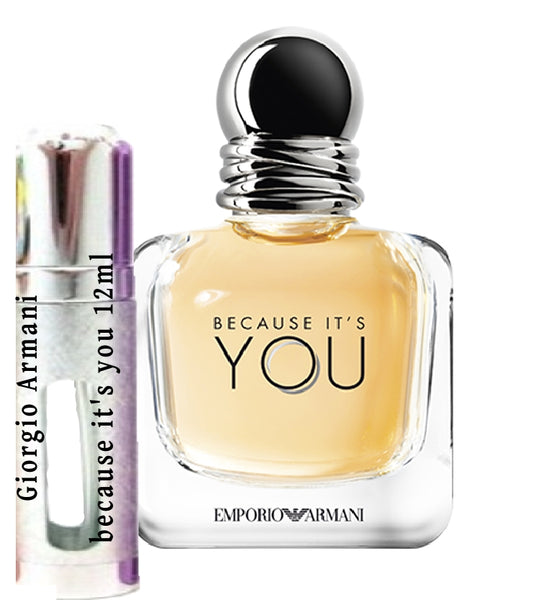 Giorgio Armani because it's you samples 12ml