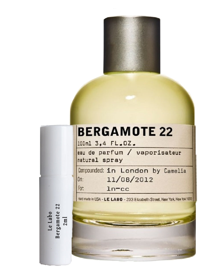 Le Labo Bergamote 22 samples 2ml