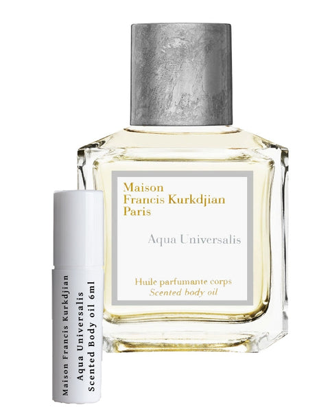 Maison Francis Kurkdjian Aqua Universalis Body Oil samples 6ml