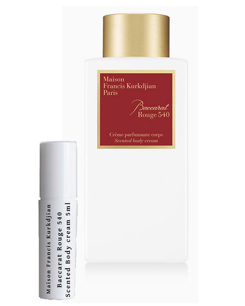 Maison Francis Kurkdjian Baccarat Rouge 540 Scented Body Cream sample 5ml