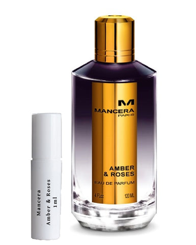 Mancera Amber & Roses sample vial spray 1ml