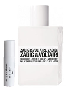 Zadig & Voltaire This Is Her! عينة عطر 6 مل