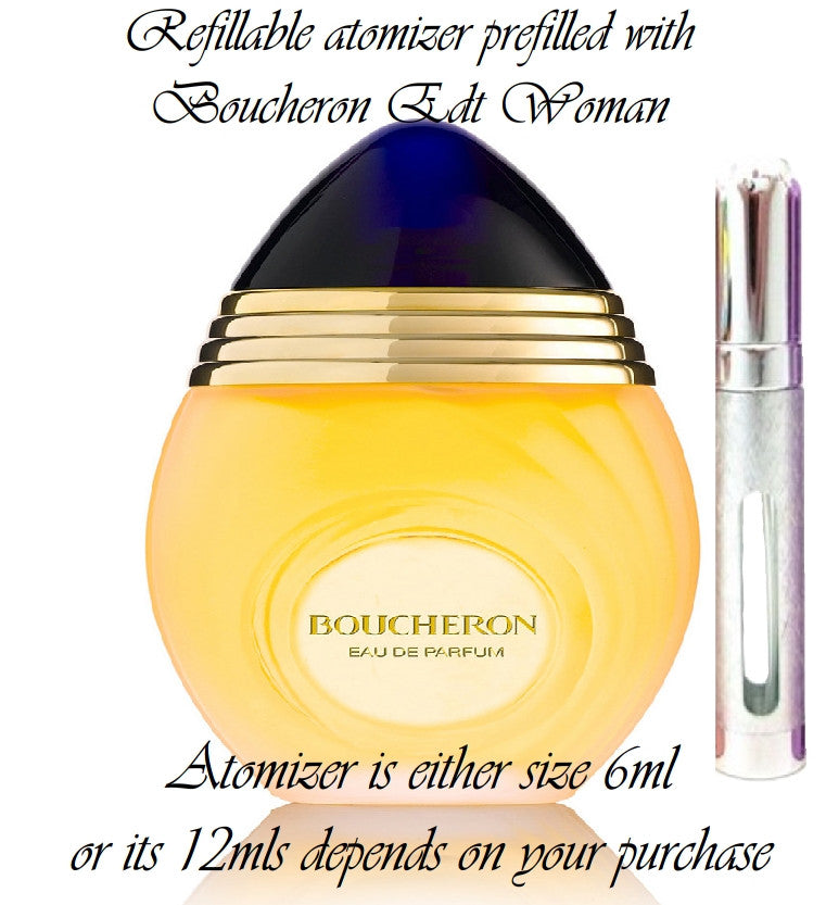 Boucheron sample perfume spray