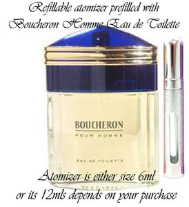 Boucheron Homme sample perfume spray Eau De Toilette