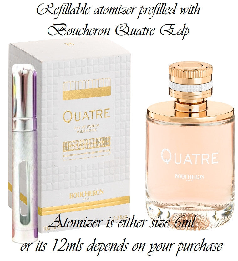 Boucheron Quatre sample perfume spray