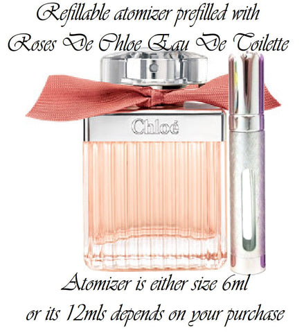 Roses De Chloe Eau De Toilette spray atomizer perfume sample spray