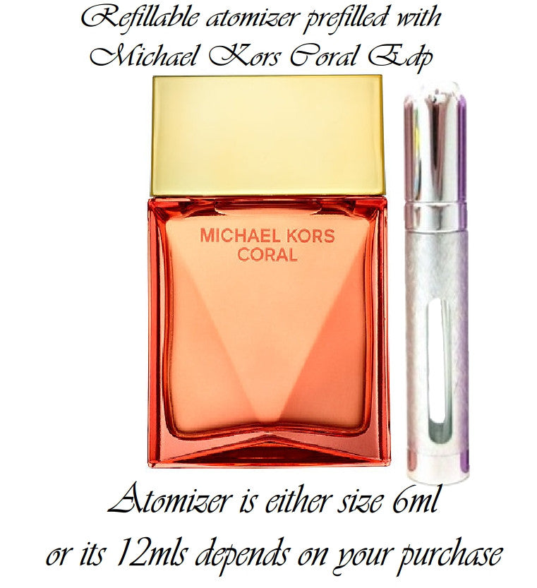 Michael Kors Coral Eau De Parfum perfume sample spray