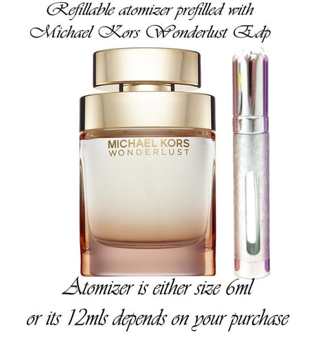 Michael Kors Wonderlust sample perfume spray