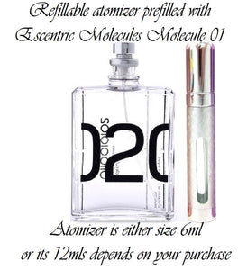 Escentric Molecules Molecule 02 atomizer perfume sample spray