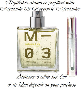 Escentric Molecules Molecule 03 perfume sample spray