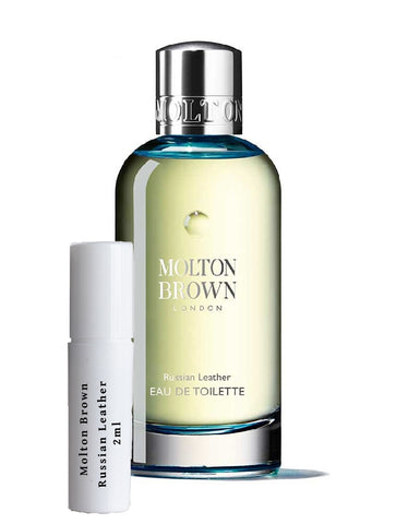 Molton Brown Russian Leather samples 2ml