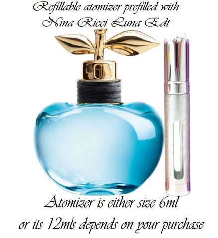 Nina Ricci Luna Eau de Toilette perfume sample spray