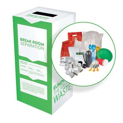 Break Room Separation - Recyclaholics Zero Waste Box™
