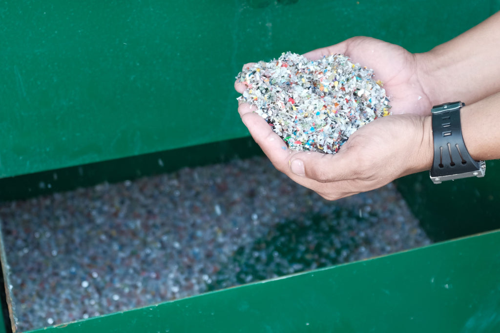 Shredded Plastic as Hollow Block Material by Green Antz