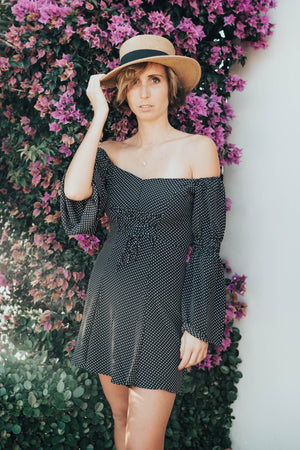 Polka Dot Bell Sleeve Dress